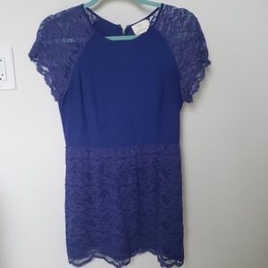 Pins and needles blue lace dress